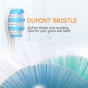 Сменные насадки для электрической зубной щетки Mornwell D01/D02, 4 шт. 3