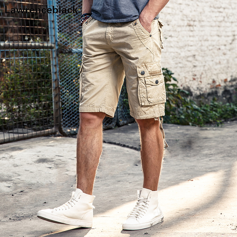 2017 Men Summer Military Cargo Shorts Trousers Loose Fit Bermuda Masculine Fashion Casual Multi-pocket Baggy Cargo Shorts 781