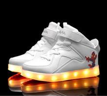 Hot sale 2016 fashion sneaker baby boys / girls shoes kids Flash sport sneaker children shoes LED lighting shoes size 25-37