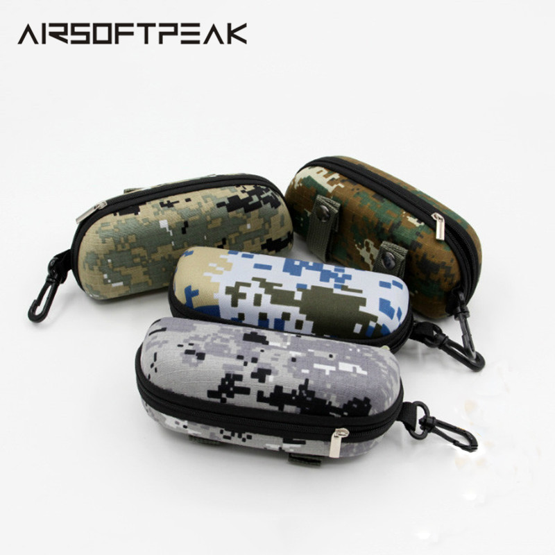 EVA Portable Sunglasses Box Storage Protector Camouflage Tactical Molle Goggle Glasses Bag Case EDC Accessory Bag Outdoor Bags