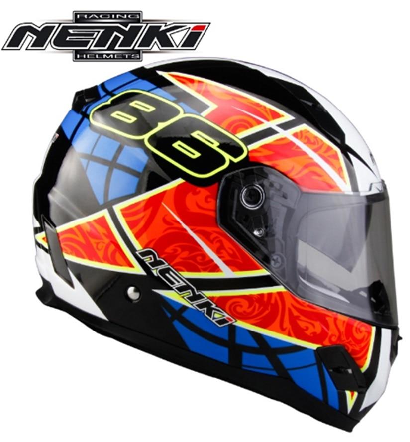 Fiberglass Racing Motorcycle Helmet Nenki Brand  Motorbike full face helmet Capacetes Casco FF856