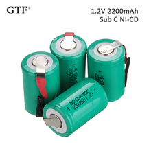 4Pcs 2200mah Sub C SC 4/5sc 1.2V ni-cd Rechargeable Battery Flat Top With Tabs For Shaves And Emergency Lighting Radios celular