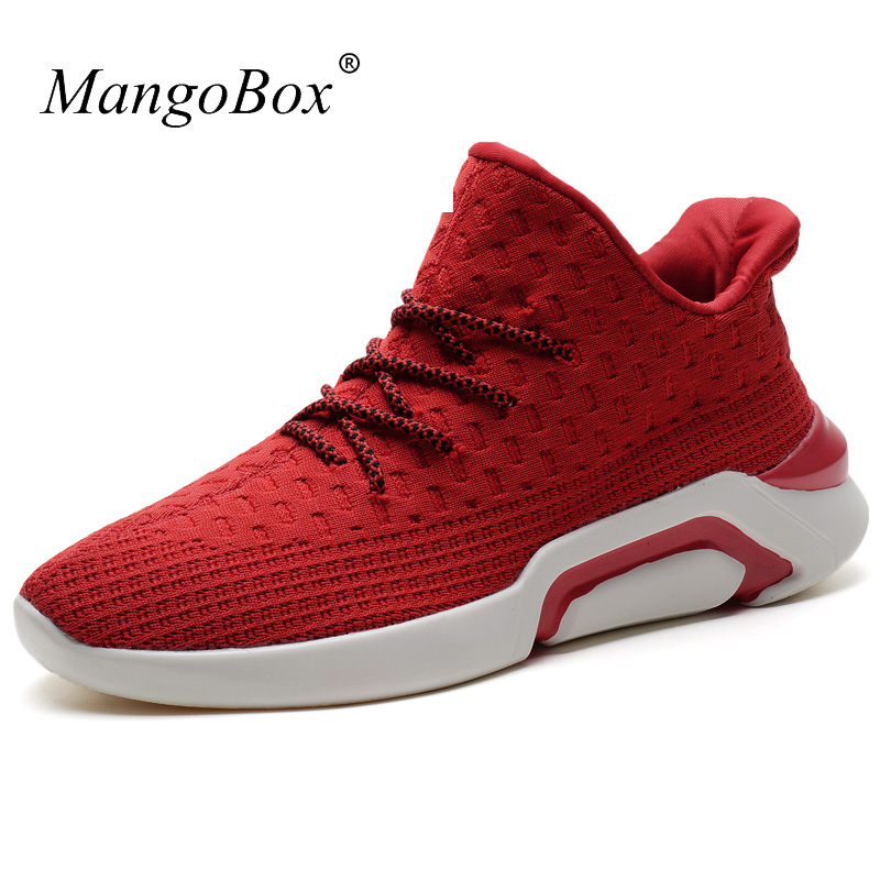 2017 New Trend Sports Shoes For Mens Breathable Mens Running Trainers Luxury Male Designer Sneakers Red Black Men Gym Shoes