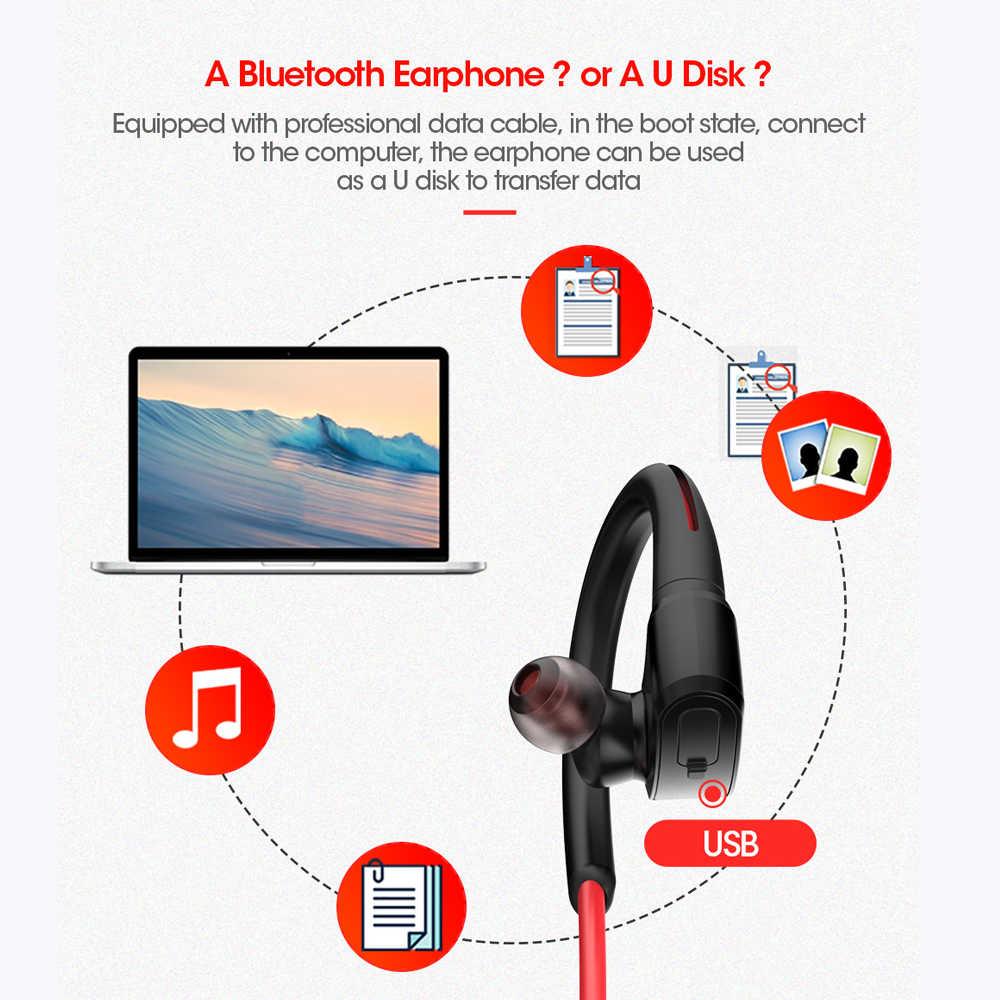 Dacom стерео Спорт Беспроводной Bluetooth наушников IPX7 Водонепроницаемый беспроводные MP3 музыкальный плеер уха гарнитура с 512 М памяти