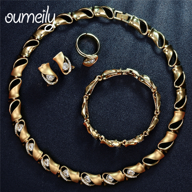 Oumeily Jewelry Sets African Beads Wedding Decorations Nigerian