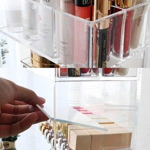 Image 5 - منظم ماكياج جديد من الأكريليك الشفاف ، حامل عينة التجميل لأحمر الشفاه وأحمر الشفاه ، حامل فرشاة المكياج ، رف صندوق التخزين المنظم