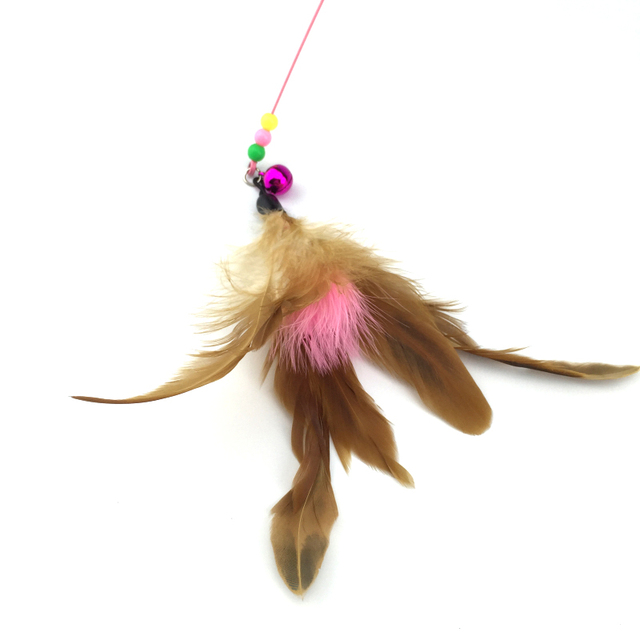 Pet cat toy Hot Cute Design Plastic Steel Wire Feather Teaser Wand Toy for cats interactive Products For pet 110cm Free shipping