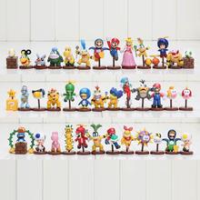 13pcs/set Super Mario Bros 3~6 cm Luigi shy guy Action Figures Xmas Gift retail