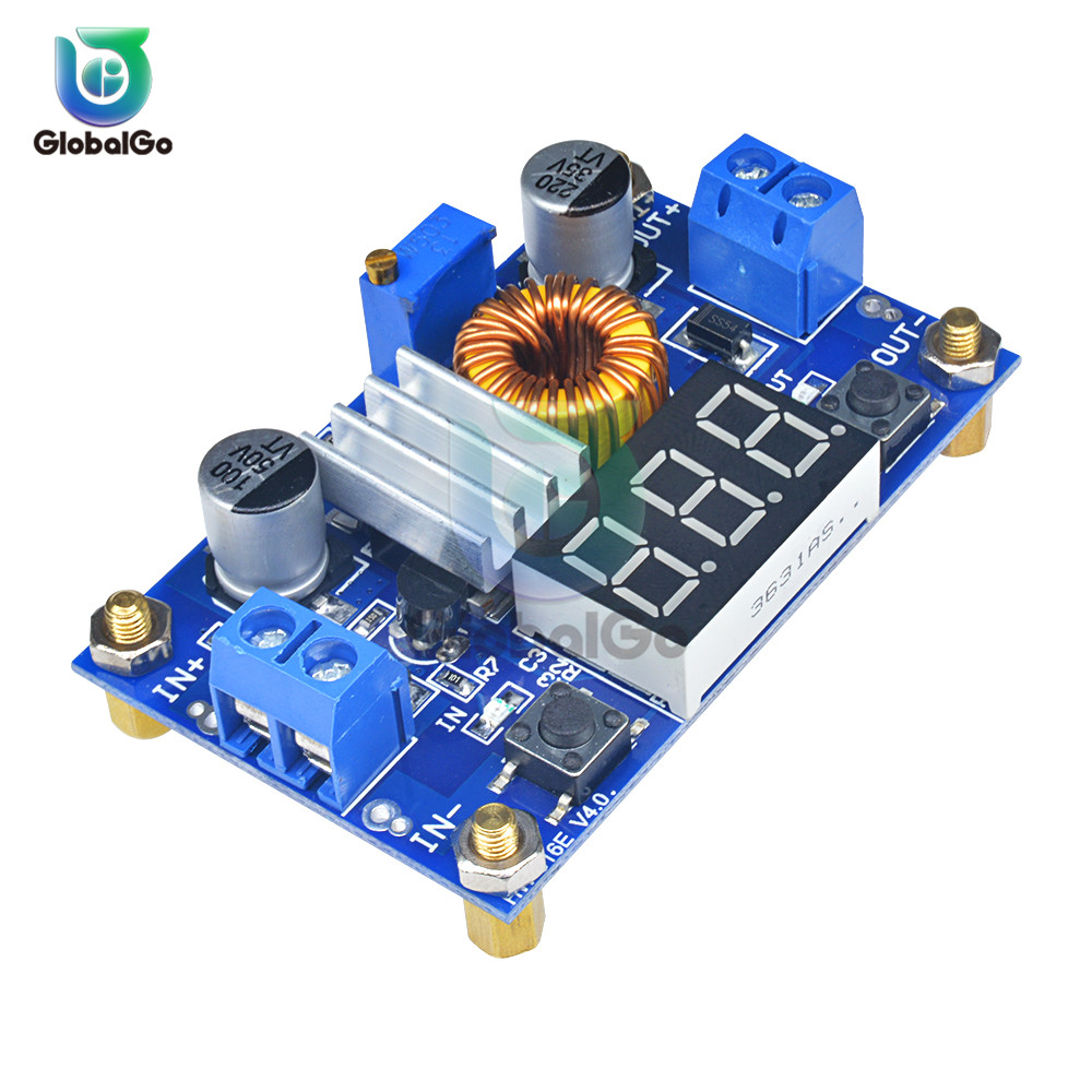 5A DC to DC CC CV Lithium Battery Step down Charging Board Power Buck Converter LED Voltmeter Power Supply Module