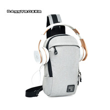 Multifunction Headset Hole Chest Pack Men Women Anti Thief Chest Bags  Teenager Male Fashion Travel Shoulder a6b2da007f515