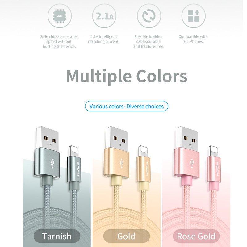 Image 5 - 10Pack Metal Nylon Braided USB Cable For iPhone X XS 8 PLUS 8 pin For Samsung Xiaomi Micro USB Charging Cables USB Charger CordMobile Phone Cables   -
