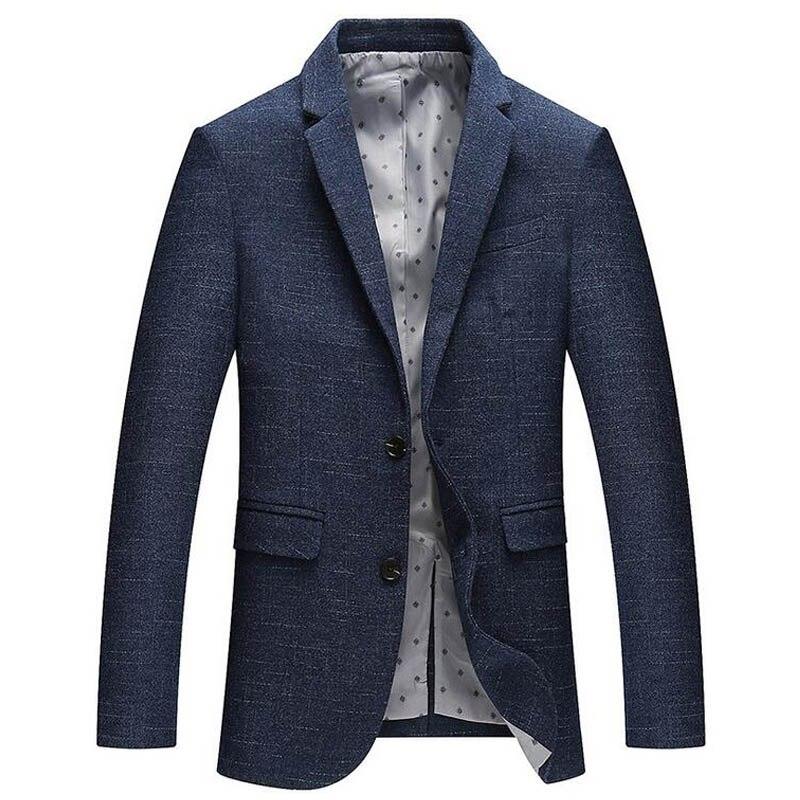 2018 новые весенние пиджак мужчины плед Slim Fit Blazer мужские деловые повседневные Королевский синий свадебные костюмы смокинг жениха для homme