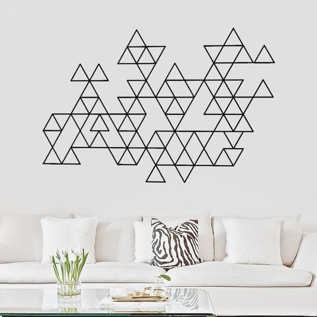 Creative Geometric Vinyl Wall Sticker Modern Minimalist Home Decoration Accessories Art Decal For Living Room Decor G545