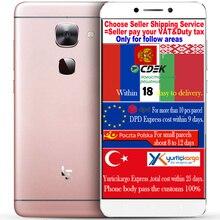 Оригинал Letv LeEco le 2 два X620 3 ГБ RAM 16 Г ROM FDD LTE Мобильного Телефона helio X20 2 ГГц Дека Core 1920×1080 P 5.5 дюйма 16.0MP Android 6