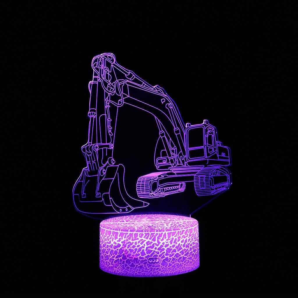 Динозавр светодиодный 3D подсвечивающая лампа оптический настольный ночник с 7 изменением цвета