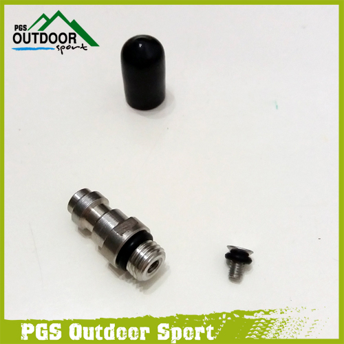 Image 2 - Paintball Airsoft PCP HPA Fill Fitting 8mm Male Quick Head Connection Disconnect Fill Nipple w/Check Valve One Way Foster M8*1.0-in Paintball Accessories from Sports & Entertainment