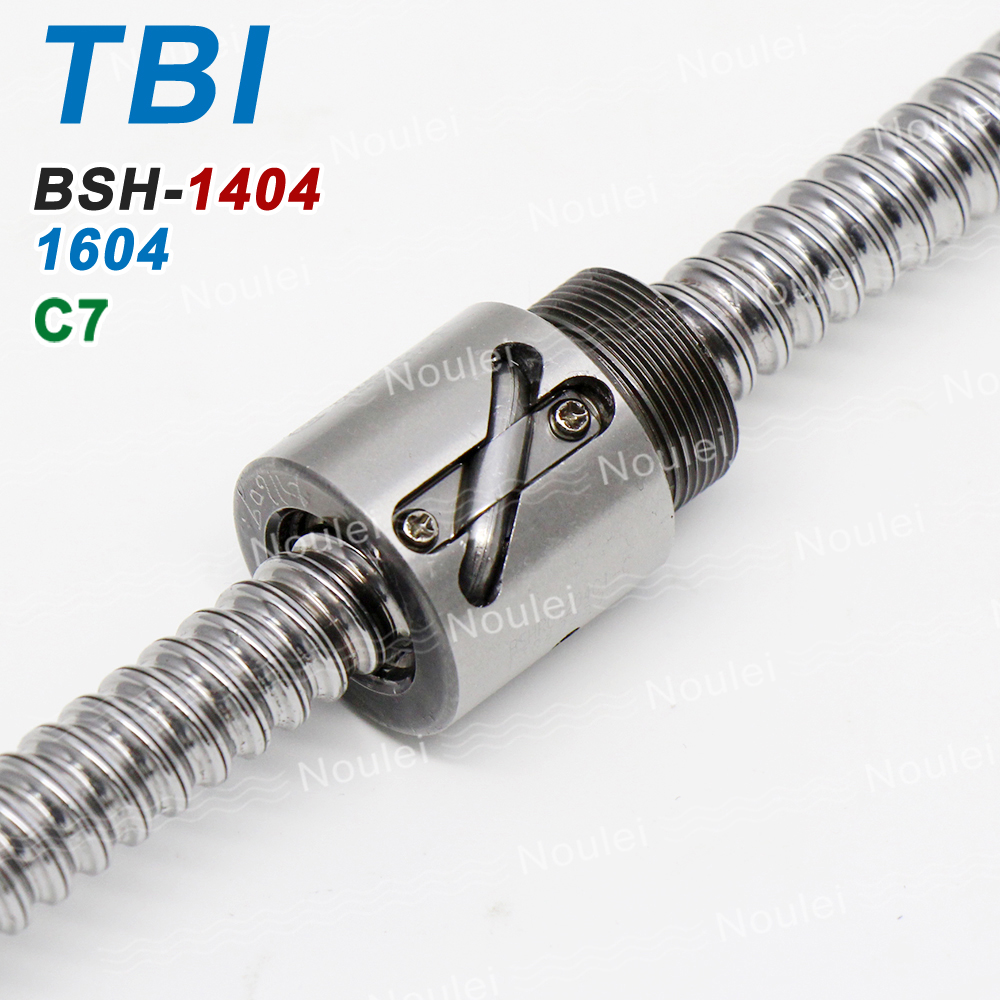 TBI C7 4mm lead 1404 1604 Ball Screw 400mm 600mm with Ballnut BSH1604 BSH1404 Without Flange 14mm Ballscrew цена