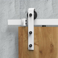 5ft 6ft 8ft Rustic White Sliding Barn Wood Door Closet Door Hanging Track Kit