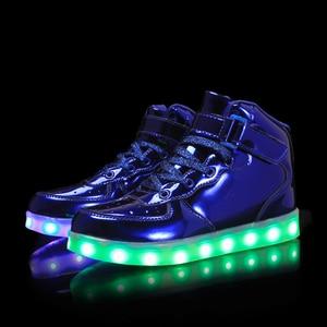 Image 2 - Größe 25 39 Kinder LED Kinder Glowing Turnschuhe mit Licht Leucht Turnschuhe für Jungen Mädchen Turnschuhe mit Licht Sohle