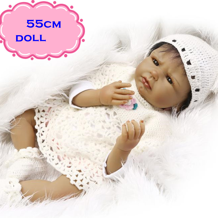 New NPK Dolls Handmade Silicone Simulation Reborn Baby Dolls About 22inch Top Quality Newborn Baby Doll Toy Best Gift For Child handmade chinese ancient doll tang beauty princess pingyang 1 6 bjd dolls 12 jointed doll toy for girl christmas gift brinquedo