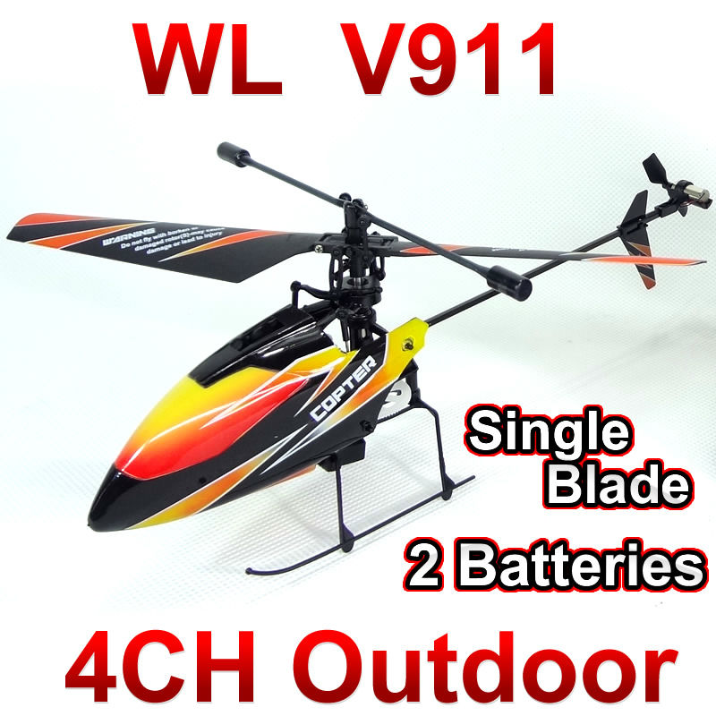 Free shipping WL toys V911 4CH 2.4GHz Radio Control Helicopter RTF,Single Blade RC Helicopter Gyro,Perfect mini wltoys remote control charging helicopter