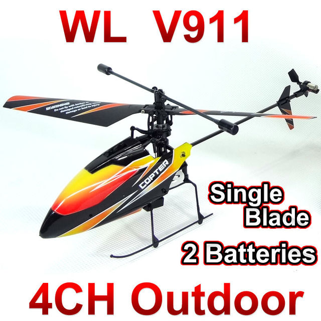 WL toys V911 4CH 2.4GHz Radio Control Helicopter RTF,Single Blade RC Helicopter Gyro,Perfect mini wltoys FSWB
