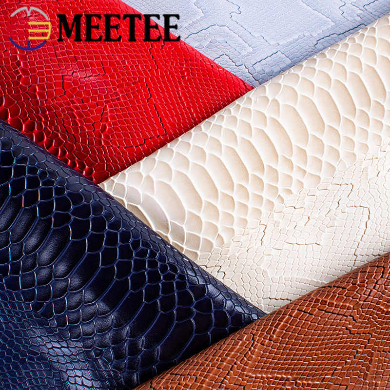 Meetee 45 × 137 センチメートル 1.2 ミリメートルの厚さの革生地人工合成ヘビ革 Pvc 素材荷物財布ベルト DIY アクセサリー
