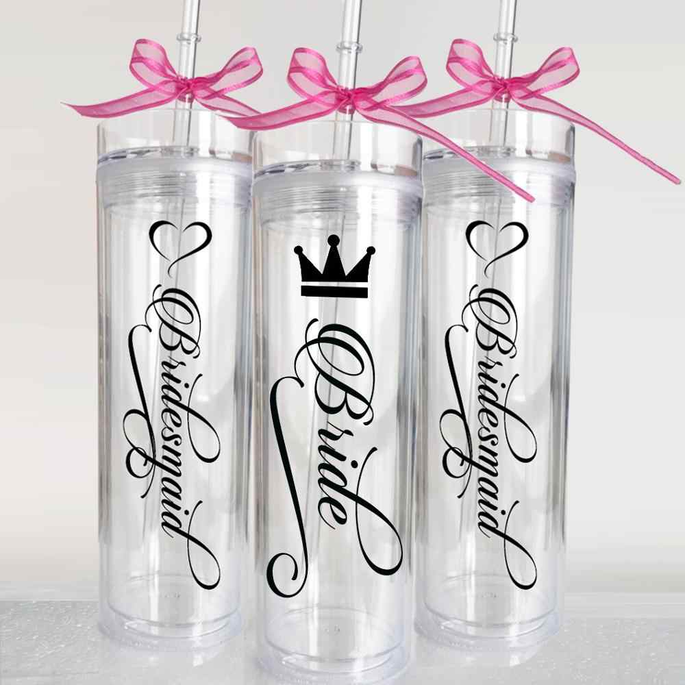 Skinny Tumbler Tumbler with Straw Bachelorette Tumbler Personalized Tumble Bridesmaid Gift Bridal Party Favor Bridesmaid Cup