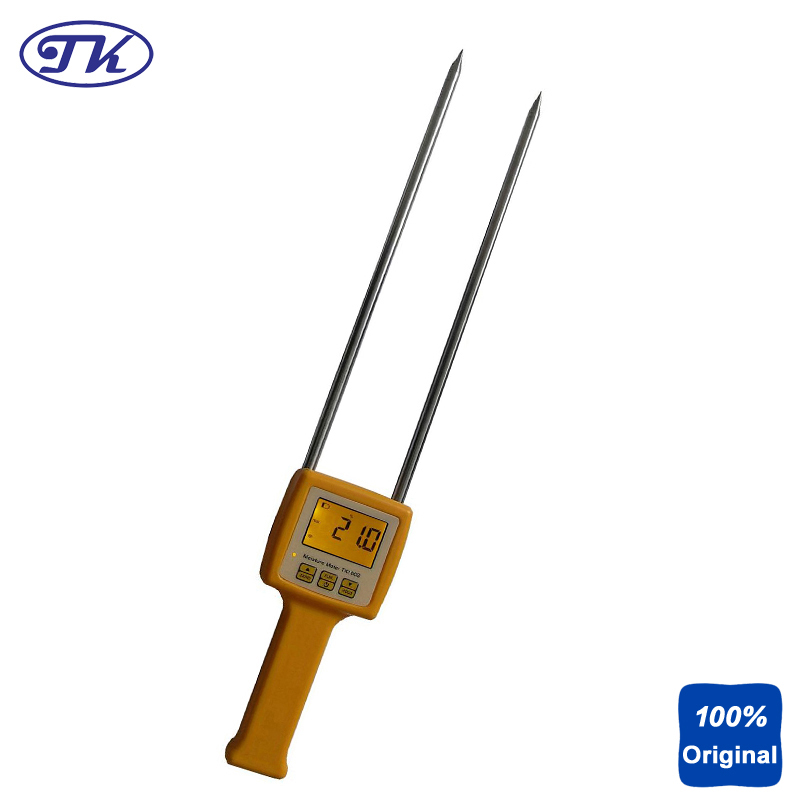 TK100S 4 Digital LCD Grain Moisture Meter For Corn wheat Rice Bean Wheat Flour Tester crop residue management in rice wheat cropping system