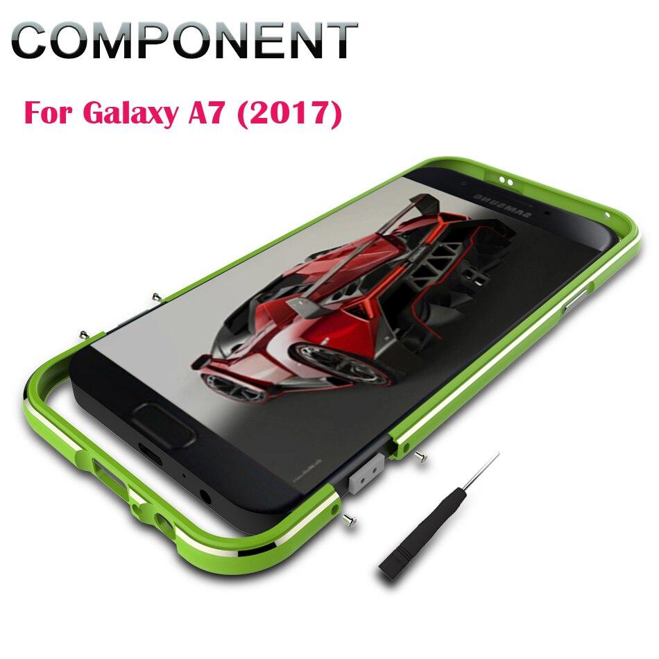 bilder für Metallstoßdämpfer für Galaxy A7 2017 A720, Top qualität Aluminiumstoß Luxury Metallrahmen Für Fall Für Samsung Galaxy A7 A720