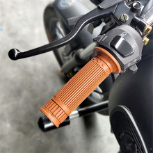 5 Colors Available Universal 7/8 22MM Vintage rubber coffee Motorbike handlebar grips moto accessorie Motorcycle handle