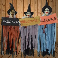 Halloween Glowing Ghost Called Welcome Decoration Halloween Festive Party Supplies
