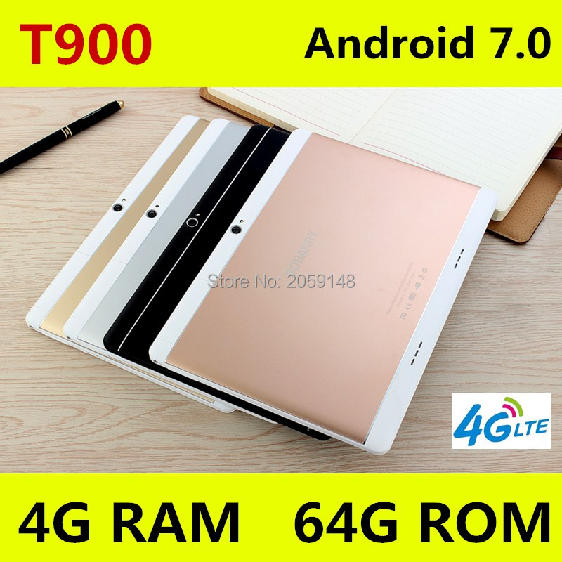Free shipping 10 inch tablet PC Android 7.0 Phone call 3G 4G LTE octa core RAM 4GB ROM 64GB 1920x1200 IPS Dual SIM tablets Pcs created x8s 8 ips octa core android 4 4 3g tablet pc w 1gb ram 16gb rom dual sim uk plug