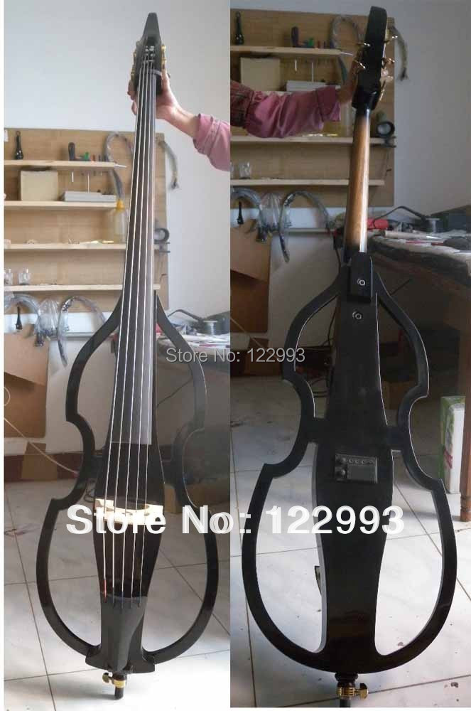 3/4 5 String Electric Parted Upright Double Bass Finish silent belcat bass pickup 5 string humbucker double coil pickup guitar parts accessories black