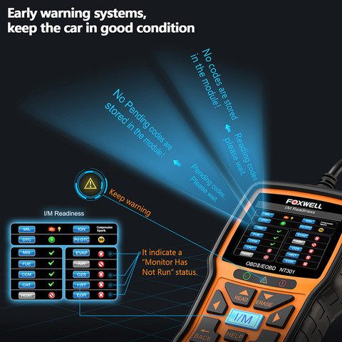 Foxwell NT301 OBD OBD2 Scanner Car Engine Code Reader Diagnostic Tool Multi-languages Universal odb 2 odb2 Automotive Scanner Islamabad
