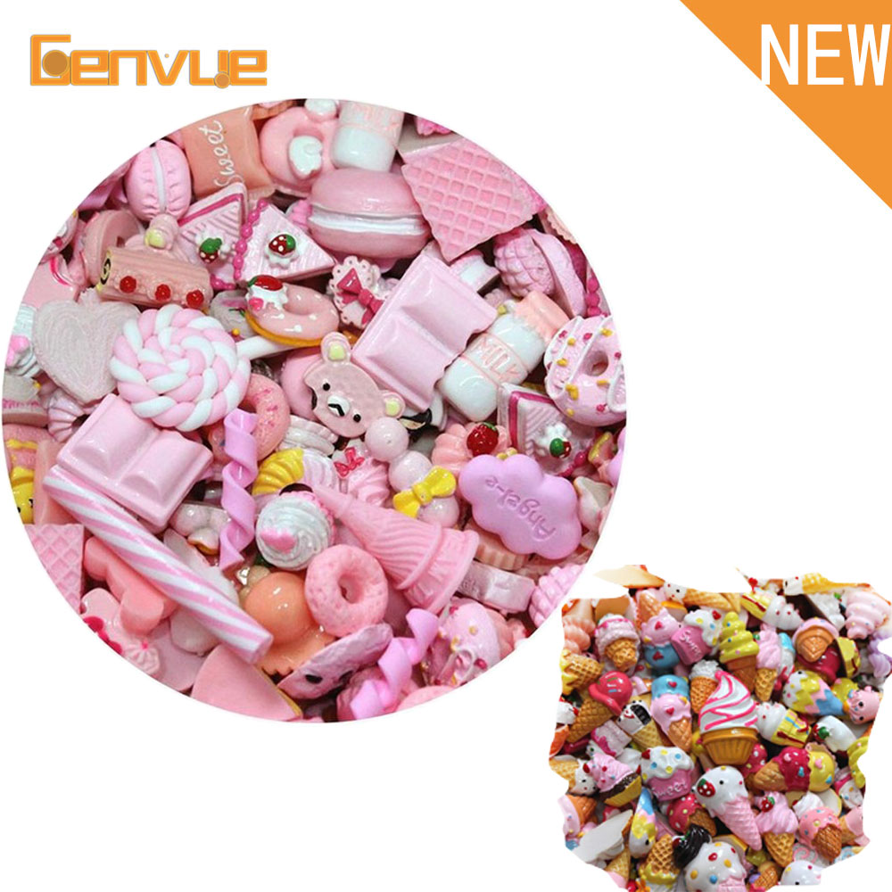 10pcs Fruits Candy Additions For Diy Fluffy Slime Charms Phone Case Supplies Accessories Decoration For Slime Filler Miniature