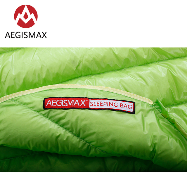 AEGISMAX MINI 800FP White Goose Down Mummy Adult Outdoor Camping Ultralight Spring Autumn Summer Three-Season Sleeping Bag 3