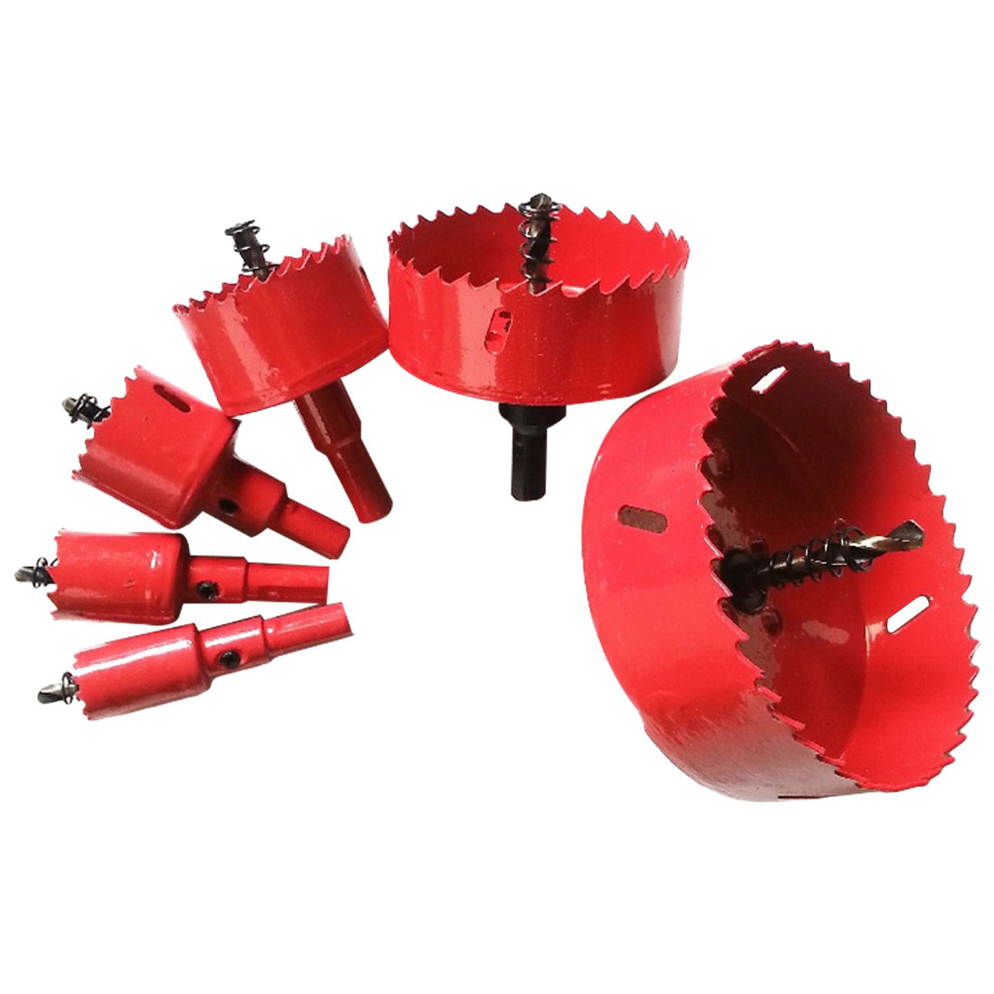 Woodworking Hole Opener Drill Bit 16mm-50mm Hole Saw Twist Drill Bits Cutter Power Tool Metal Holes Drilling Kit Carpentry Tools