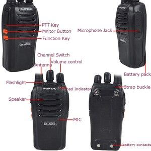 Image 2 - 100% Baofeng BF 666s Walkie Talkie 16CH pratik iki yönlü radyo UHF 400 470MHZ taşınabilir jambon radyo 5W el feneri programlanabilir