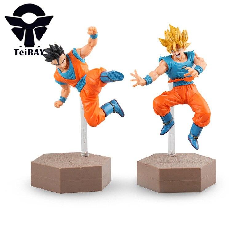 Japanese Anime Dragon Ball Z Figure Super Saiyan Son Goku Gotan pvc action figures toy figma Brinquedos kids baby toys 7 18cm