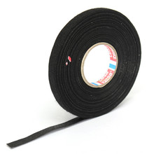 MTGATHER Natural Rubber Car Wiring Loom Harness Adhesive Cloth Fabric Black Tape Cable Loom Natural Rubber 9mm x 25M