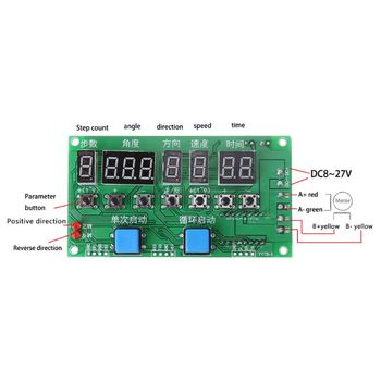 Stepper Motor Driver Controller Module Angle/Direction/Speed/Time Programmable Board DC 8-27V