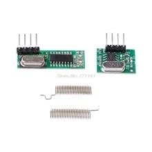 1 комплект 433 МГц Супергетеродинный RF модуль приемника-передатчика комплект с 2 антеннами для ARM/MCU