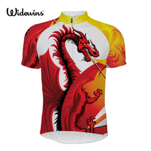 New Find The Dinosaur Alien SportsWear Mens Cycling Jersey Fiery dragon Cycling Clothing Bike Dragon Shirt Size 2XS TO 5XL 5414