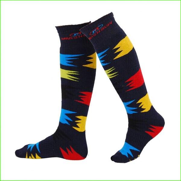 SKKO2 Mens Warm winter skiing socks knee-length ski socks men skiing sport long socks thick warm skiing socks