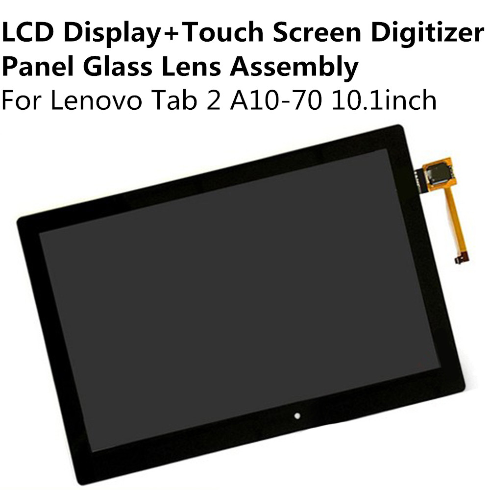 все цены на  LCD Display + Touch Screen Digitizer Panel Glass Lens Assembly For Lenovo Tab 2 A10-70 10.1inch Replacement Parts Repair Part  онлайн