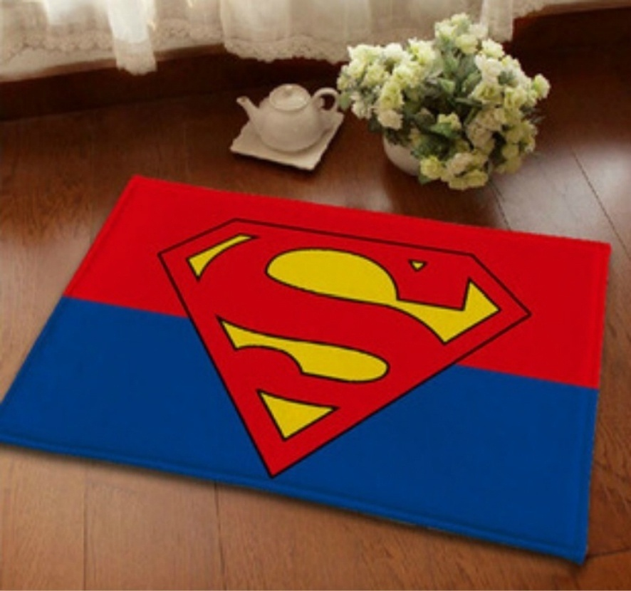 HearTogether Brand Non Slip Doormat Floor Rug Superman Door Mat Entrance  Welcome Carpet For Home
