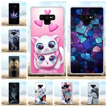 For Samsung Galaxy Note 9 Cover Soft TPU N960F N960U N9600 Case Cat Patterned Shell
