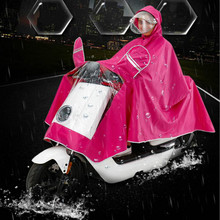 double cap Motorcycle Rider Raincoat scooter rain coat universal raincoat-women-men red blue black xxxl xxxxl free shipping