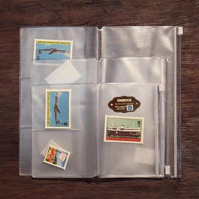 K&KBOOK PVC Zipper Bag Organizer Holder For Travel Notebook Diary Journal Accessory Tickets Cards Storage